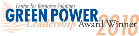 2018 Green Power Leadership Award From Center for Resource Solutions logo