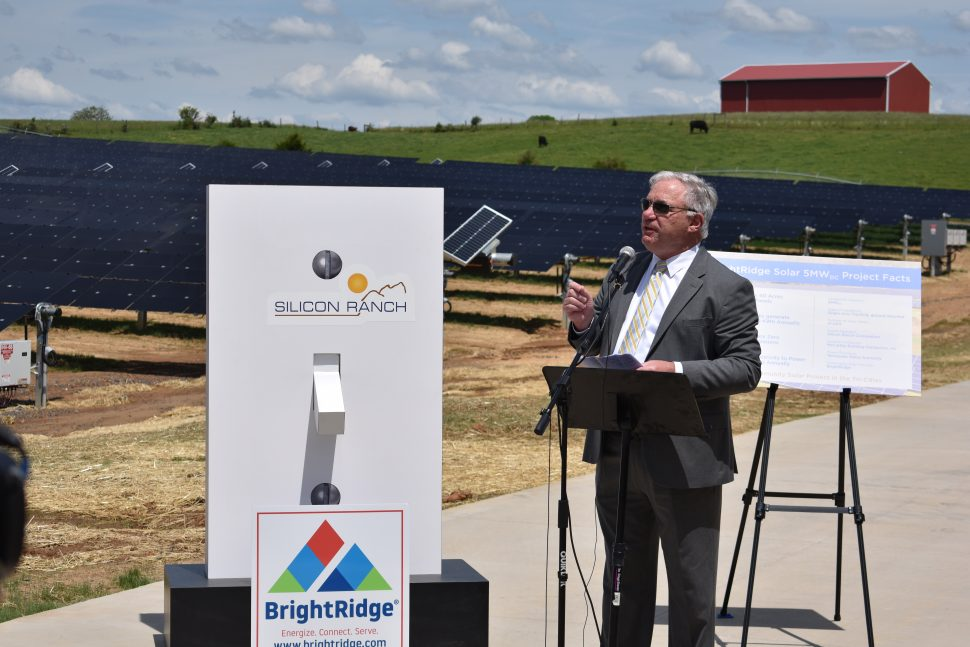 "Jim Bausell speaking at ""Flip the Switch"" for BridgeRight"