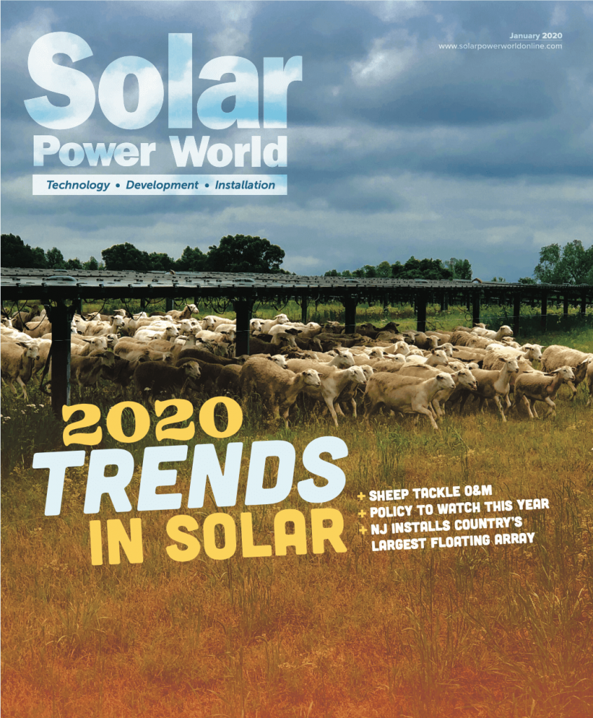 Solar power world magazine cover for 2020 trends in solar featuring Silicon ranch corporation