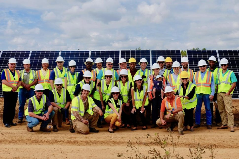 Silicon Ranch and Regenerative Energy partners at Bancroft Station Solar Farm. Will Harris III is in the top row, second from left. (Chris Lunghino/Silicon Ranch)